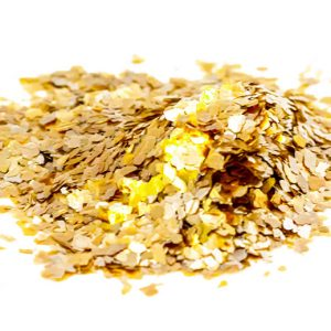 Mica Gold Medium Flakes