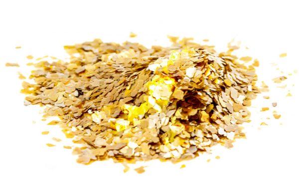 Mica Gold Medium Flakes